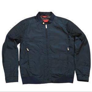Zara Basic Jacket bomber jacket, Blue/deep ocean